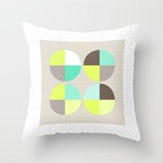 Quarter Circles 1 Throw Pillow