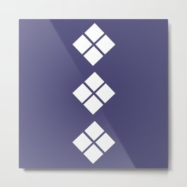 Geometrical violet white abstract ethno pattern Metal Print