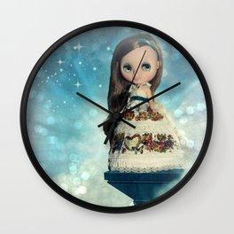 Blue Magic Girl Wall Clock