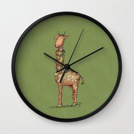 Cleo Giraffe Green Wall Clock