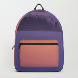 Foggy Winter Evening With Beautiful Sunset Colors In The Sky #decor #buyart #society6 Backpack