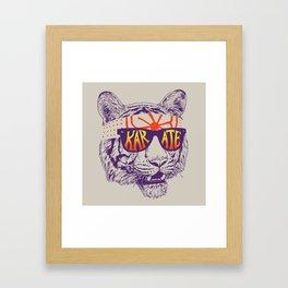Karate Tiger Framed Art Print