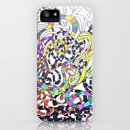 Lines drawing iPhone Case