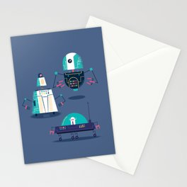 :::Mini Robot-Nanoi::: Stationery Cards