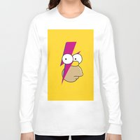homer Long Sleeve T-shirts featuring Homer Stardust by lapinette