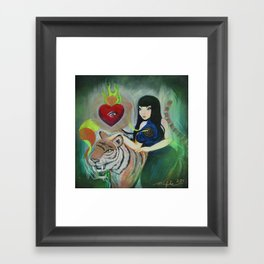 """""""5: Kiss Like Painted Tigers but We Bleed Like No One Does"""" Framed Art Print"""
