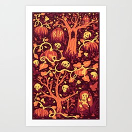 Halloween Path Art Print