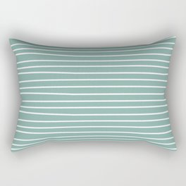 Simple Teal and Stripes Rectangular Pillow