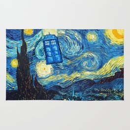 STARRY NIGHT TARDIS Rug