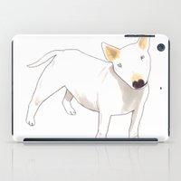 terrier iPad Cases featuring Bull Terrier by jo clark