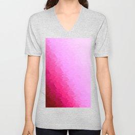 Pink Texture Ombre Unisex V-Neck