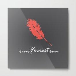 Run Forrest Metal Print