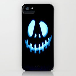 halloween Jack O Lantern Blue iPhone Case