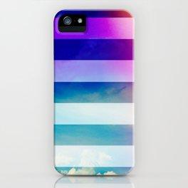 Blue Sky / Bold Stripes iPhone Case