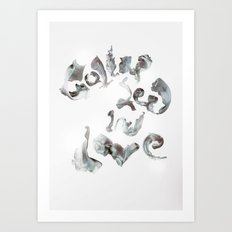 Collapsed in Love Art Print