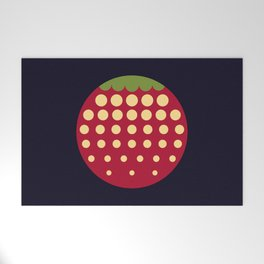 strawberry || russian black Welcome Mat