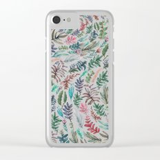 water color garden at nigth Clear iPhone Case