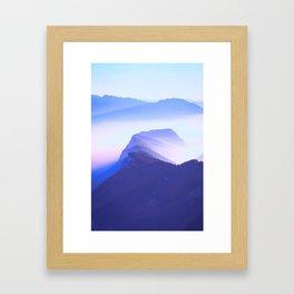 French mountains Framed Art Print