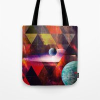 planet Tote Bags featuring Planet by Tony Vazquez