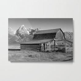 Moulton Barn at the Tetons Metal Print