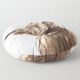 Highland Cow Floor Pillow