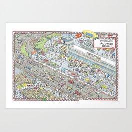 Formula 1, Interlagos Circuit, Sao Paulo, Brazil Art Print