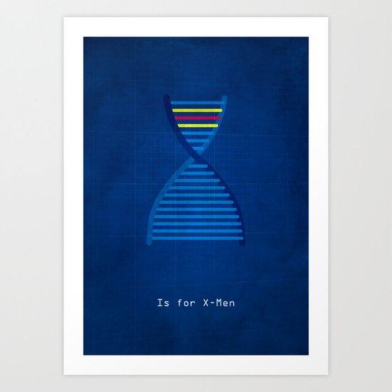 X is for X Men Art Print