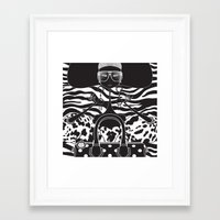 marc jacobs Framed Art Prints featuring Marc Jacobs Close by Leandro Dario