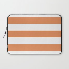 Big Foot Feet - solid color - white stripes pattern Laptop Sleeve