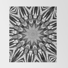 Black-and-White Abstract 57 Throw Blanket