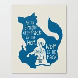 Strength of the Pack - Wolf and Child Canvas Print