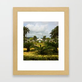 Mormon Church Laie Framed Art Print