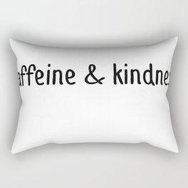 Caffeine And Kindness Rectangular Pillow