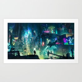 Cyberpunk City Art Print