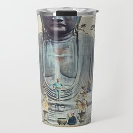 The Bronze Buddha at Kamakura, hand–colored albumen silver print from Japan Travel Mug