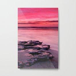 Pink colored sky Metal Print