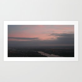 sunset from the hills Art Print