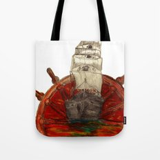 Steering into a new setting Tote Bag