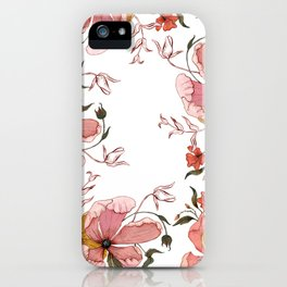 Words that water flowers iPhone Case