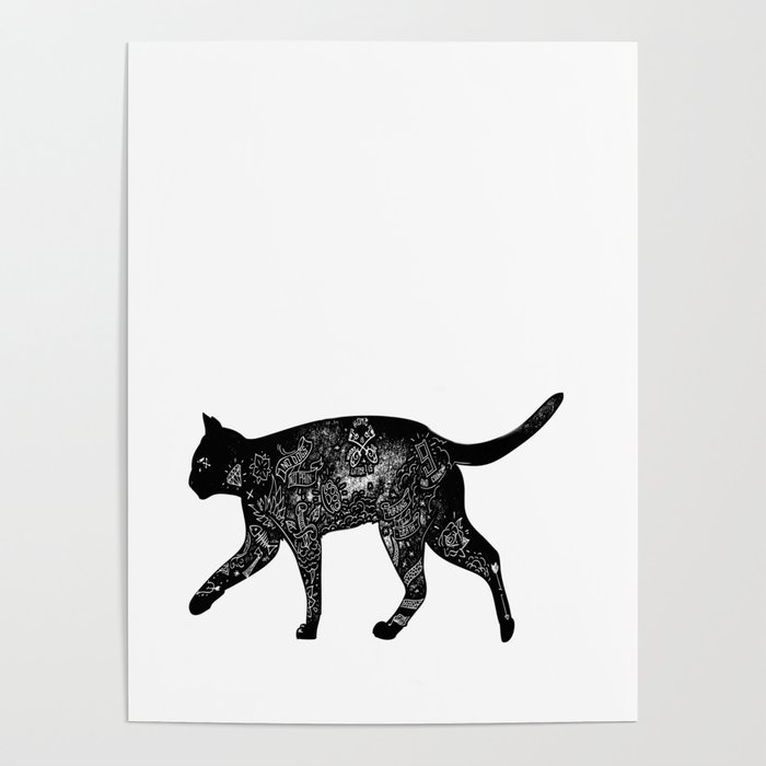 Cat Anatomy Poster by lovewithfluff | Society6