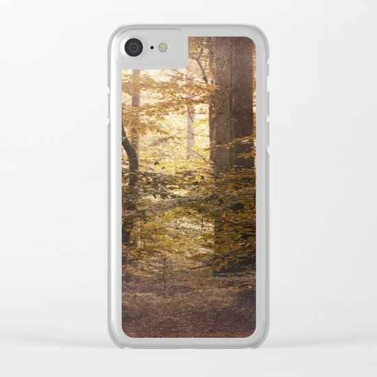 Autumn Came, With Wind & Gold. Clear iPhone Case