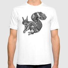 Squirrel Mens Fitted Tee MEDIUM White