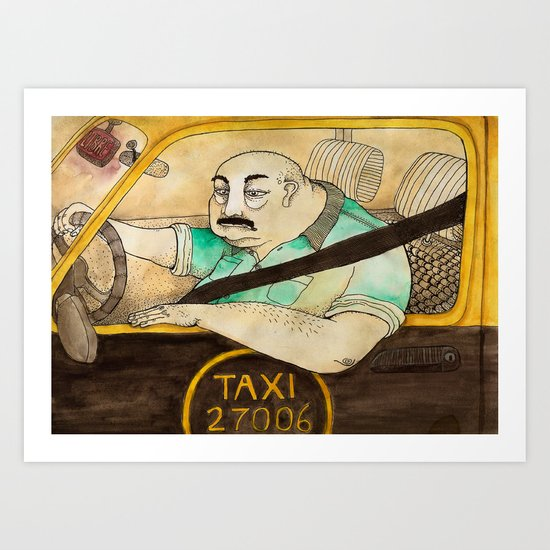 Taxi de Buenos Aires Art Print