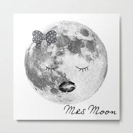 Mrs Moon Metal Print