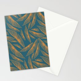 Feathered Leaf Pattern Stationery Cards