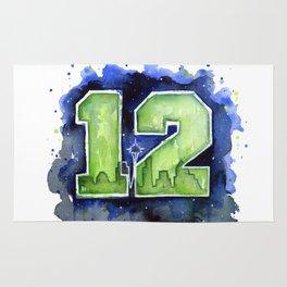 Seattle 12th Man Art Rug