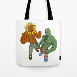 A Cute Greeny Cactus Plant Tee For You With An Illustration A Big Cactus And Sunflower Man T-shirt Tote Bag