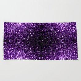 Beautiful Dark Purple glitter sparkles Beach Towel