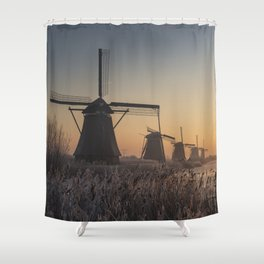 Sunrise at Kinderdijk Shower Curtain
