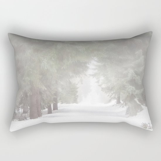 Enchanted forest - Winter Snow Wood Trees Rectangular Pillow